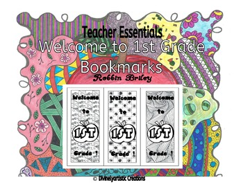 Welcome to 1st Grade Bookmarks- hand drawn DOODLES!
