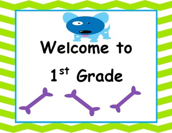 Welcome to 1st Grade - Canine Cuties