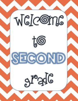 Welcome to 2nd Grade poster