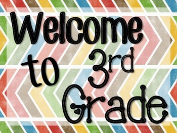 Welcome to 3rd Grade Signs