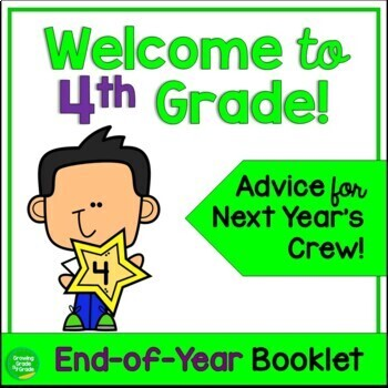 Welcome to 4th Grade! An End-of-Year Project to Welcome Ne