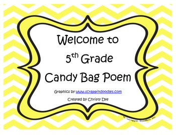 Welcome to 5th Grade Candy Bag Poem