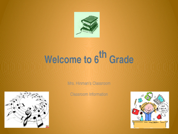 Welcome to 6th Grade Curriculum Night Presentation (Editable!)