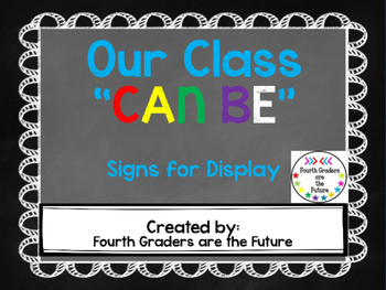 Welcome to Class! Motivational Signs
