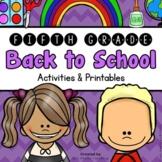 Back to School: 5th Grade Back to School Activities