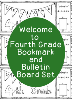 Welcome to Fourth Grade Coloring Page Printable Bookmarks