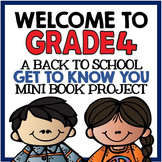 "Welcome to Grade Four: Back to School ""All About Me"" Mini"