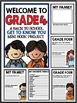 """Welcome to Grade Four: Back to School """"All About Me"""" Mini"""