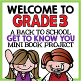 "Welcome to Grade Three: Back to School ""All About Me"" Mini"