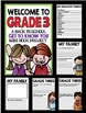 """Welcome to Grade Three: Back to School """"All About Me"""" Mini"""