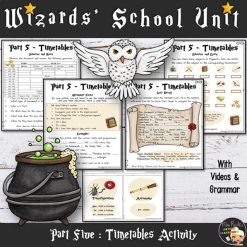 Welcome to Hogwarts - Worksheets Part 3