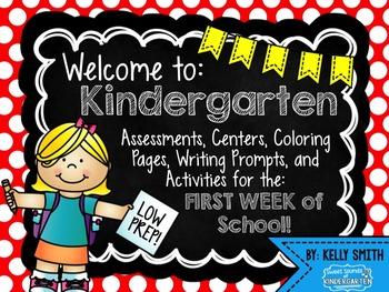 Kindergarten Beginning of the Year Activities {Welcome to