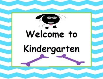 Welcome to Kindergarten - Canine Cuties Classroom Decor