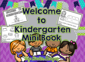 Welcome to Kindergarten Mini-Book by Kinder League
