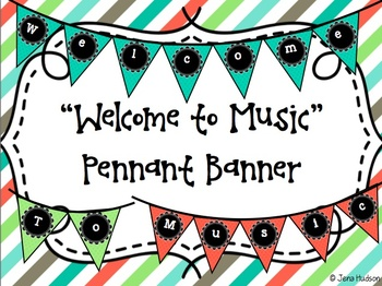 """""""Welcome to Music"""" Pennant Banner"""