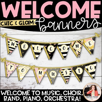 Welcome to Music! Piano! Choir! Band! Pennant Banner {Chic