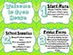 Welcome to Open House Table Signs (Green)