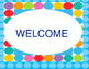 Welcome to Our Class Door Decoration Set Blue Dots