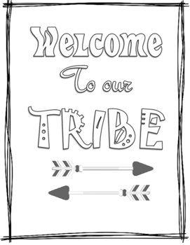 Welcome to Our Tribe Color Page