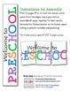 Welcome to Preschool Banner