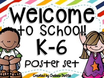 Welcome to School Poster Set {FREEBIE}