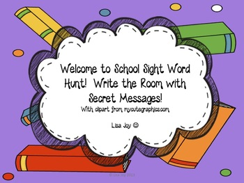 Welcome to School Sight Word Hunt!  Write the Room with Se
