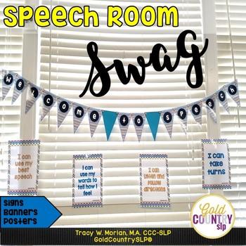 Welcome to Speech DIY Chevron Signs! BONUS door signs included!