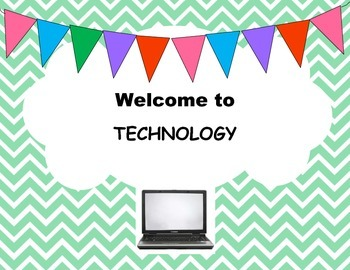 Welcome to Technology Computer Lab Poster