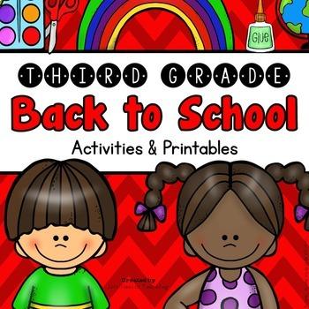Back to School: 3rd Grade Back to School Activities