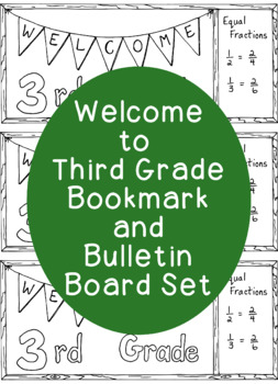 Welcome to Third Grade Printable Bookmark Back to School P