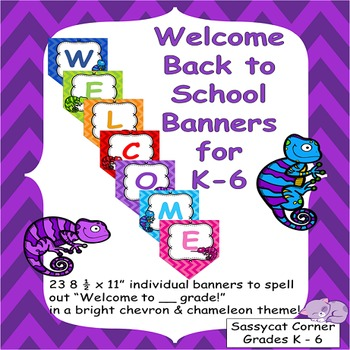 Welcome to _ Grade Chameleon and Chevron Themed Back to Sc