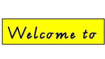 Welcome to our classroom. Classroom welcome sign