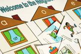 Welcome to the Neighborhood Word Game and Skill Sheet (Wor