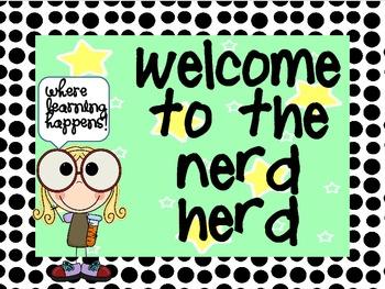 Welcome to the Nerd Herd sign