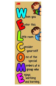 Welcome Door Sign Classroom Decoration