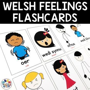 Welsh Feelings, Emotions, Flashcards