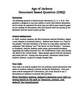 Were Andrew Jackson's actions right or wrong?  Document Ba