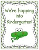 We're Hopping into School! Grade Level Signs and Student N
