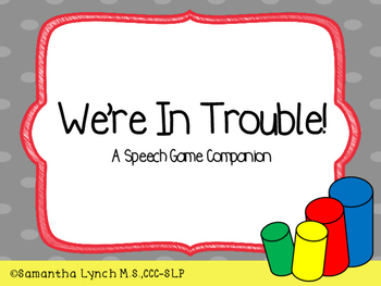 We're In Trouble! A Speech Game Companion