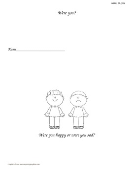 """""""Were, Or, You"""" Sight Word Book"""