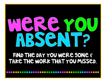 Were you Absent?