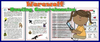 Werewolf Reading Comprehension On Halloween