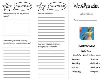Weslandia Trifold - Treasures 5th Grade Unit 6 Week 4 (2011)