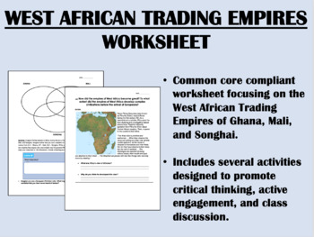 West African Trading Empires worksheet - Global/World Hist
