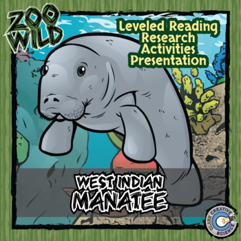 West Indian Manatee -- 10 Resources -- Coloring Pages, Rea