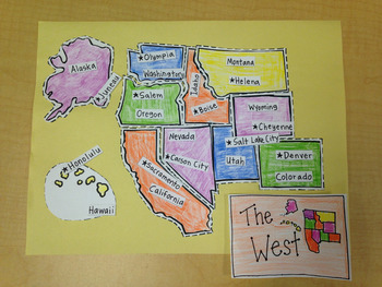 West Region Puzzle-Label States and Capitals
