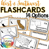 West and Southwest States Flashcards, Differentiated {14 s