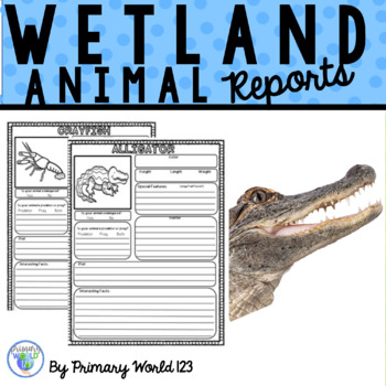 Wetland Habitat Animals Research Poster Project