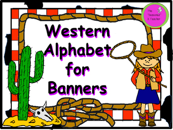 Western Alphabet for Banners