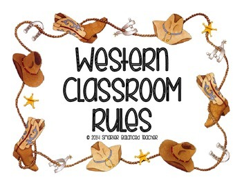 Western Classroom Rules